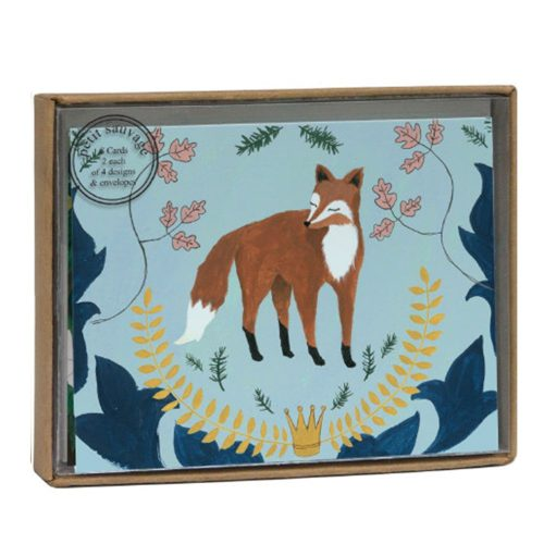 Fox and Hare Luxury Notecard Box - Roger La Borde