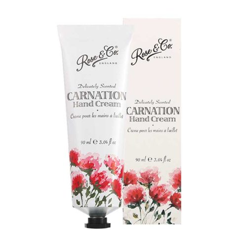 Rose & Co Patisserie de Bain Vintage Florals Carnation Hand Cream Tube 90ml