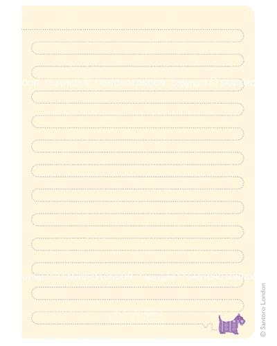 Santoro Eclectic Hardcover Notebook - Scottie Dogs
