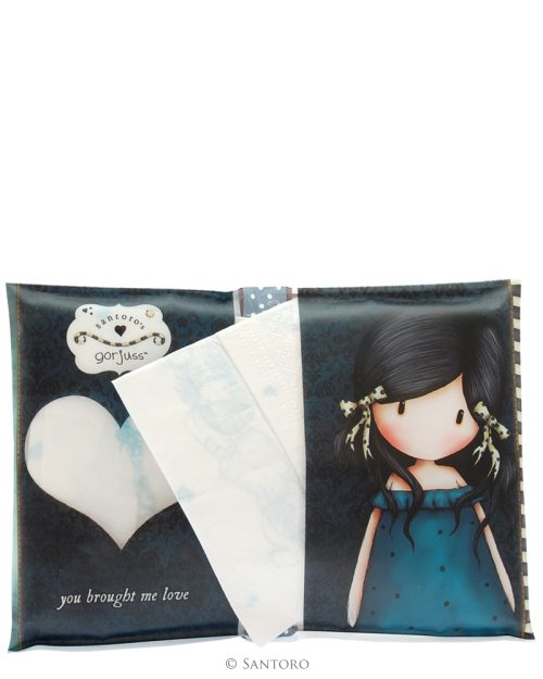 Gorjuss Pocket Tissue Pack - You Brought Me Love