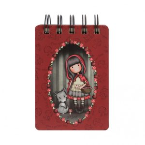 Gorjuss Mini Wirobound Notebook - Little Red Riding Hood