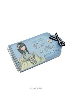 Gorjuss Wirobound Notebook - Sweet Cake 'Eat Me'