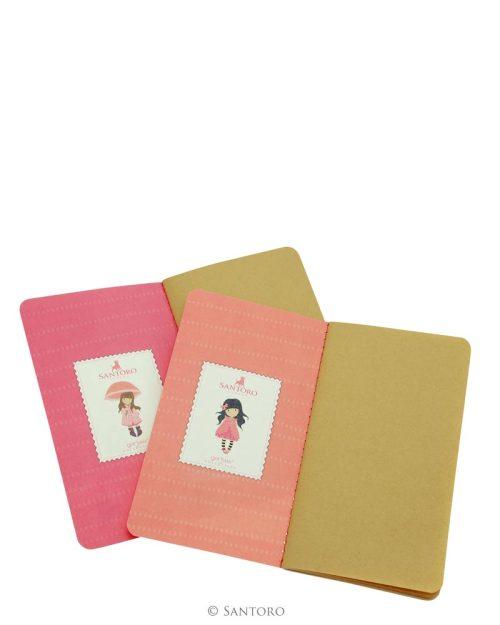 Gorjuss Traveller Set of 2 Notebooks Pink- London