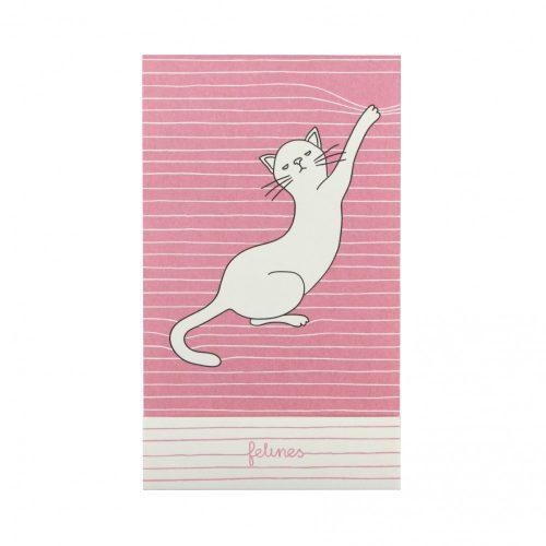 Santoro Felines Cat Matchbook Notebook - Asking Fur Trouble
