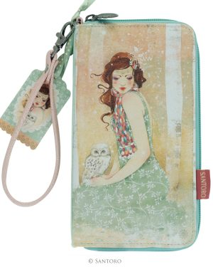 Large Zip Wallet - Mademoiselle Snow, Santoro's Willow