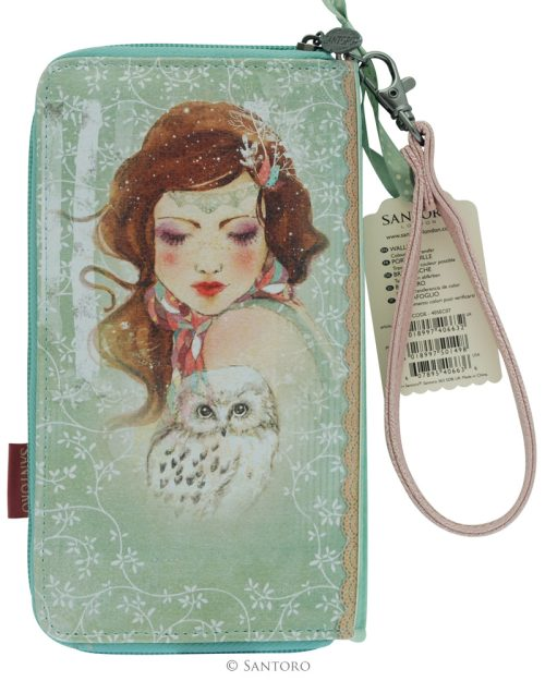Large Zip Wallet - Mademoiselle Snow, Santoro's Willow