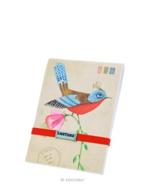 Santoro Eclectic Stitched Pocket Notebook - Summer Garden