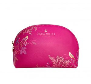 Pink Bird Luxury Cosmetic Bag - Sara Miller London - Sara Miller London