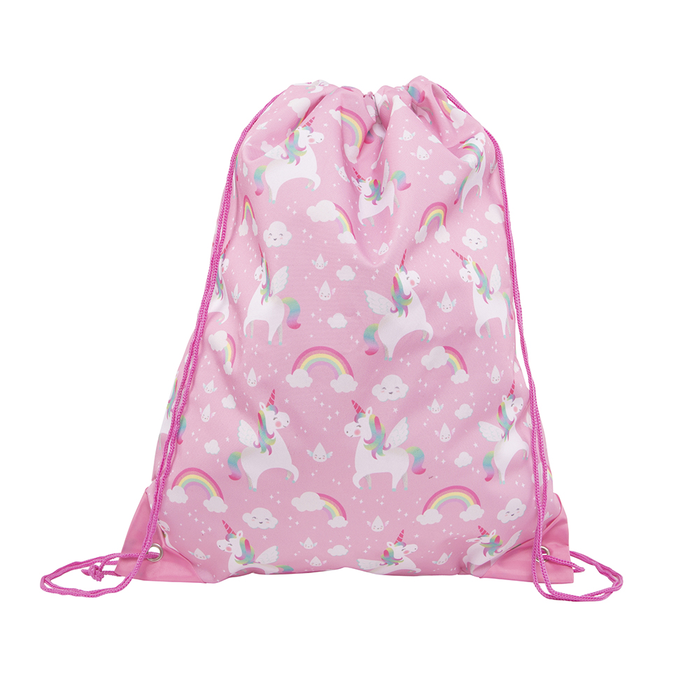 Rainbow Unicorn Drawstring Bag - Sass and Belle