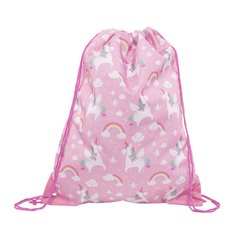 Rainbow Unicorn Drawstring Bag - Sass and Belle