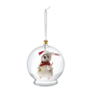 Christmas Mouse in Bauble Ornament - Steiff Limited Edition EAN 021657
