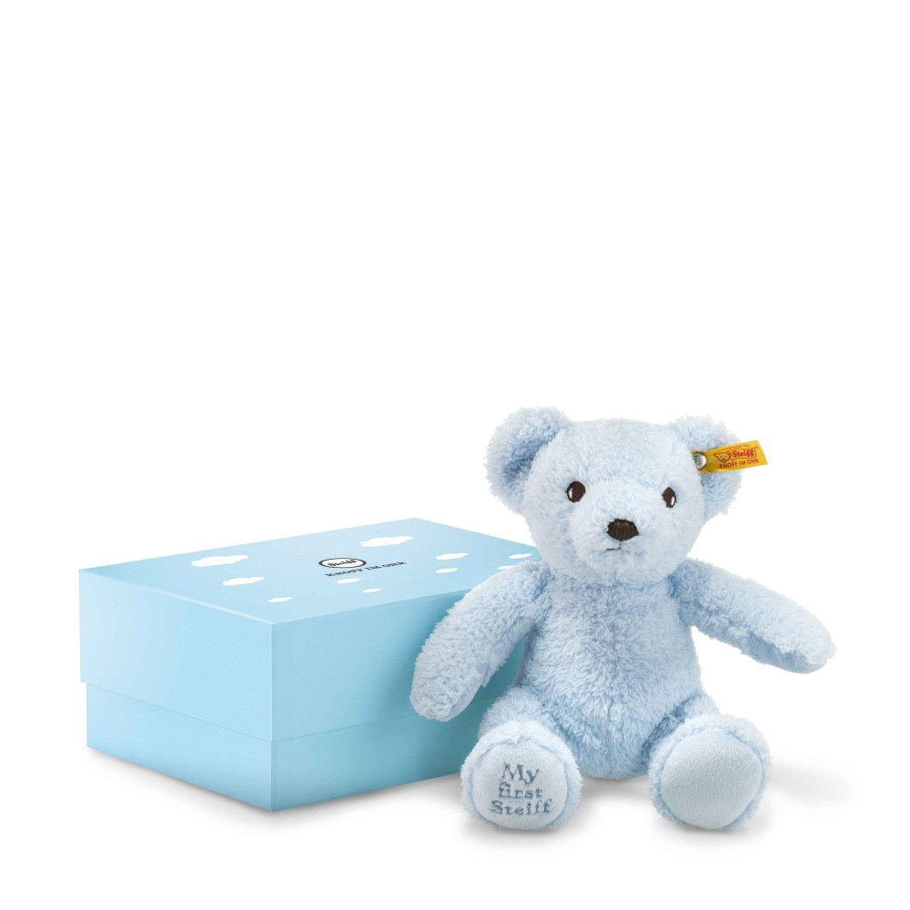 My First Steiff Teddy Bear In Box, Blue - EAN 241369