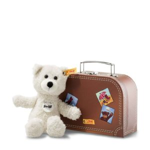 Sunny Teddy Bear in Suitcase Plush, Cream – Steiff EAN 113406
