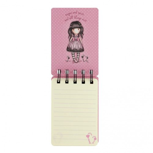 Gorjuss Mini Wirobound Notebook - Sugar and Spice