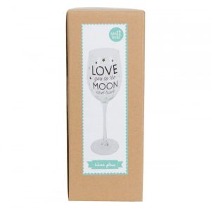 Love You To The Moon and Back Golden Stars Wine Glass - Sass and Belle