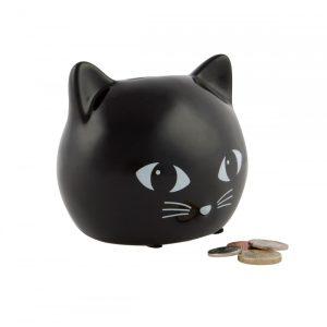 Black Cat Money Box - Sass and Belle