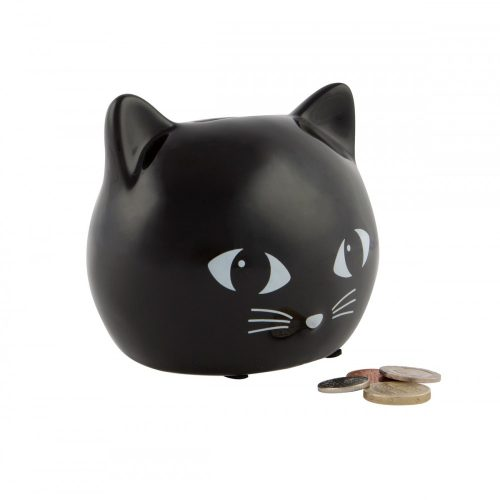 Black Cat Money Box - Sass and Belle