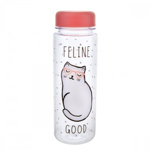 Cutie Cat Feline Good Clear Water Bottle - Sass and Belle