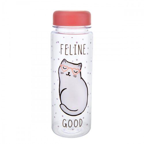 Cutie Cat Feline Good Clear Water Bottle - Sass and Belle