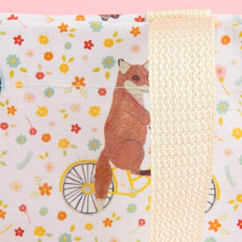 Happy Animals On Bikes Woven Plastic Shopper Tote Bag - Sass and Belle