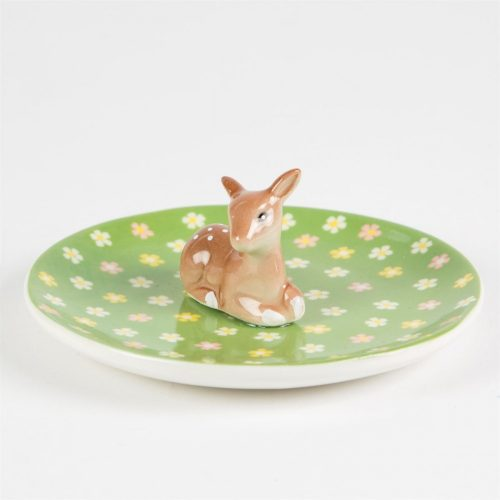 Floral Fawn Trinket Dish - Sass and Belle