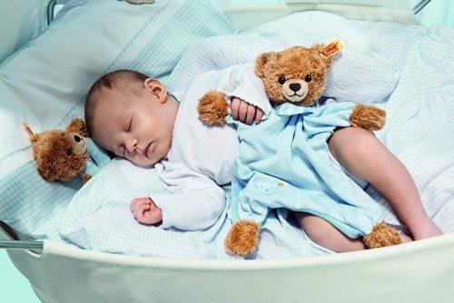 Steiff Sleep Well Bear Comforter, Blue - EAN 239588