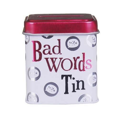 Bad Words Mini Money Box Tin - The Bright Side