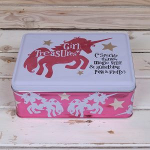 Girl Treasures Unicorn Tin - The Bright Side