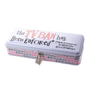 TV Ban Lockable Tin - The Bright Side