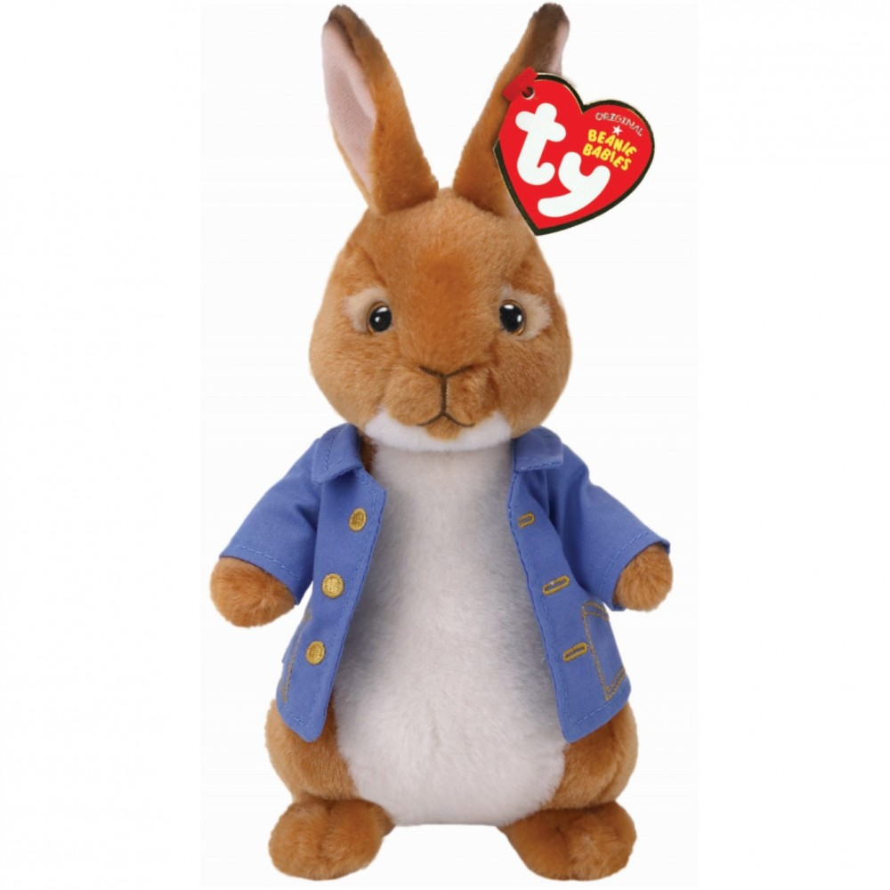 Peter Rabbit The Movie Soft Toy TY Beanie - Beatrix Potter