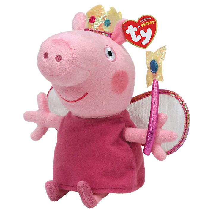 377bd9a9c1b Peppa Pig Princess Beanie Baby 15 cm - TY - Fox and Lantern