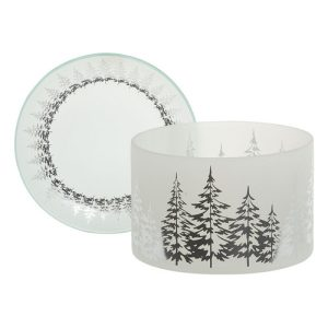 Winter Trees Large Shade & Tray Set - Yankee Candle