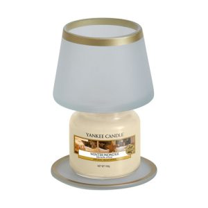 Frosty Glass Small Shade & Tray Set - Yankee Candle