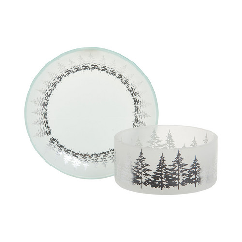 Winter Trees Small Shade & Tray Set - Yankee Candle
