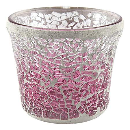 Pink Fade Crackle Votive Holder - Yankee Candle