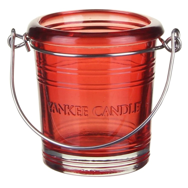 Yankee Candle Votive / Tea Light Bucket Holder Ruby Red