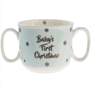 Baby's First Christmas Cup - Blue