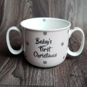 Baby's First Christmas Cup - Pink