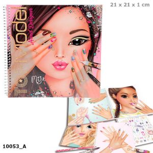 Top Model Hand Designer Colouring Sticker Book - Depesche