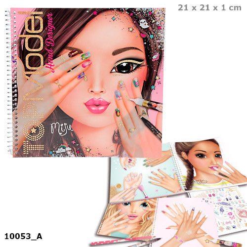 Top Model Hand Designer Colouring Sticker Book - Depesche