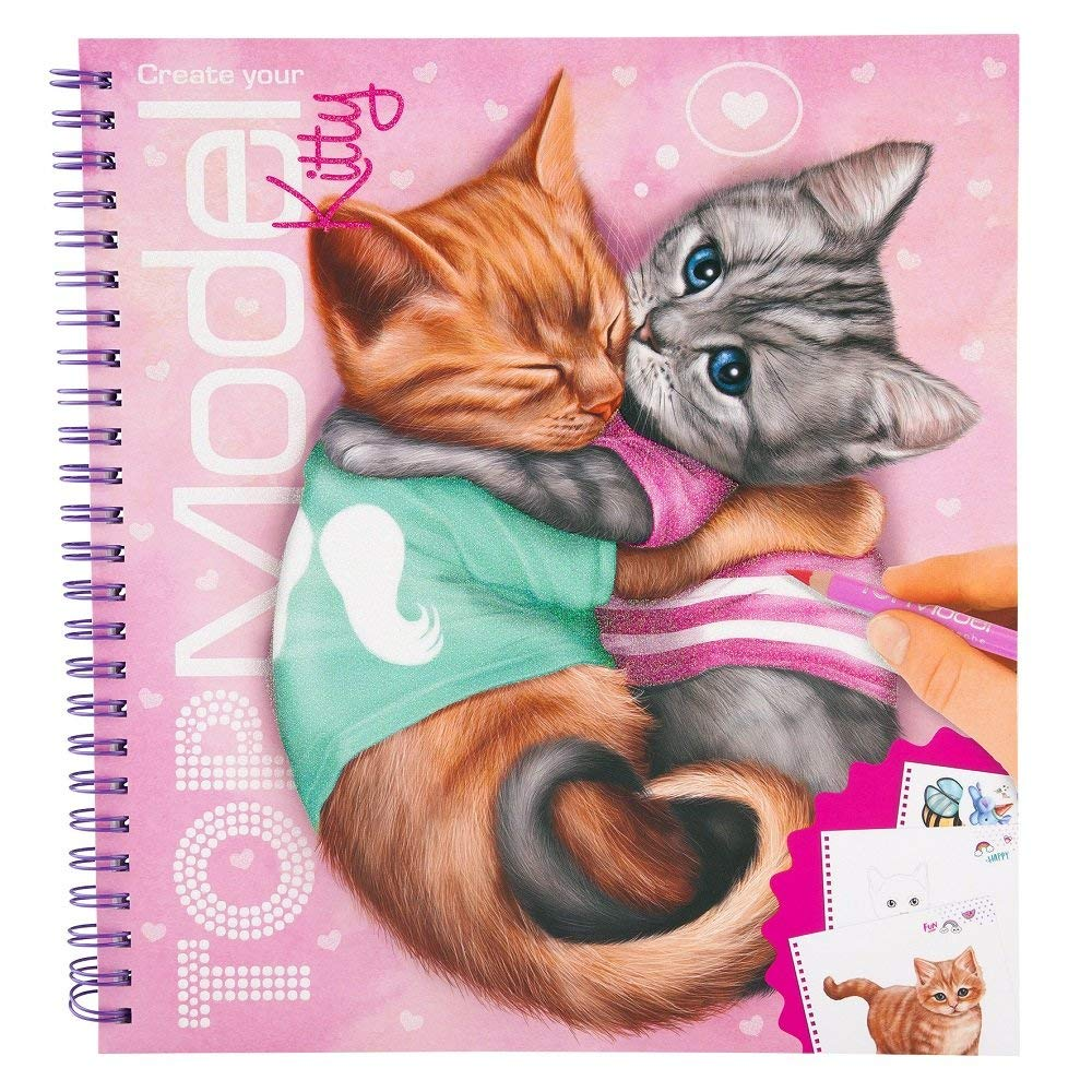 Create Your Top Model Kitty Colouring Book Depesche Fox And