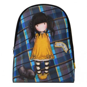 Santoro Gorjuss Tartan Mini Rucksack – Ruby (Yellow)