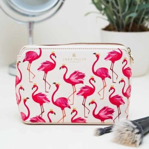 Flamingo Small Luxury Cosmetic Bag - Sara Miller London