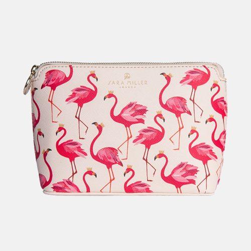 Flamingo Small Luxury Cosmetic Bag - Sara Miller London