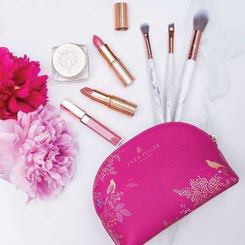 Pink Bird Luxury Cosmetic Bag - Sara Miller London - Sara Miller London