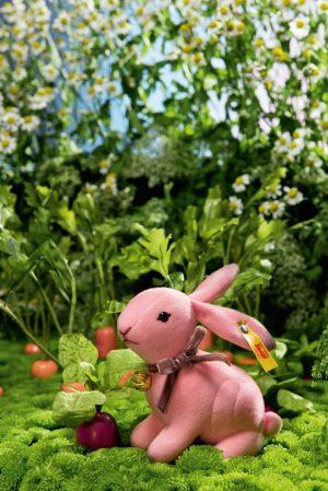 Steiff Velvet Mini Hazel Rabbit Pink, 11cm - EAN 033025