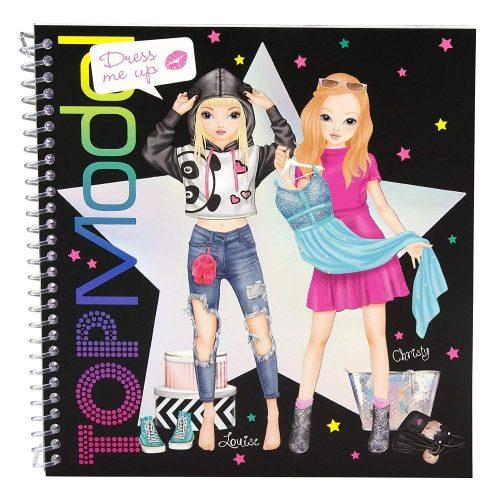 TOP Model Dress Me Up Sticker Colouring Book - Depesche