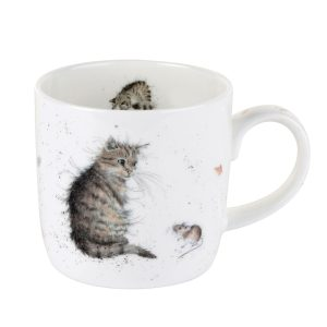 Cat and Mouse China Mug - Wrendale Designs
