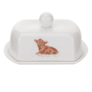Wrendale Designs Highland Cow Butter Dish