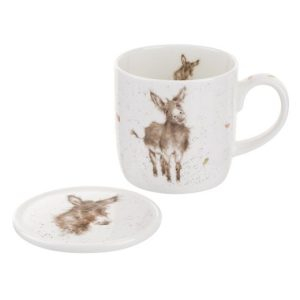 Wrendale Designs Gentle Jack Donkey Mug & Coaster Set